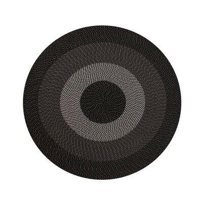Braided Stripe Taupe/Beige Area Rug Rug Size: Round 6