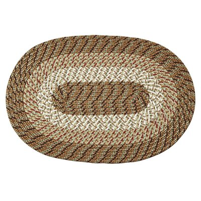Braided Stripe Taupe/Beige Area Rug Rug Size: Rectangle 54 x 84