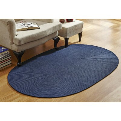 Blue Area Rug Rug Size: Round 6