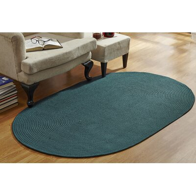 McClure Braided Hunter Area Rug Rug Size: Round 6