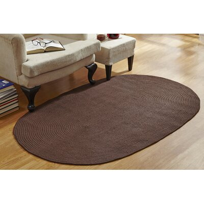 McClure Braided Brown Area Rug Rug Size: 54 x 84