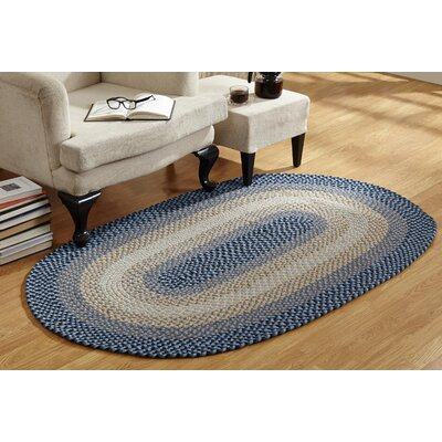Monnie Braided Blue Area Rug Rug Size: Round 6