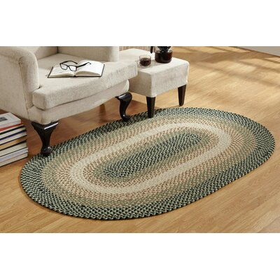 Monnie Braided Green Area Rug Rug Size: Round 6