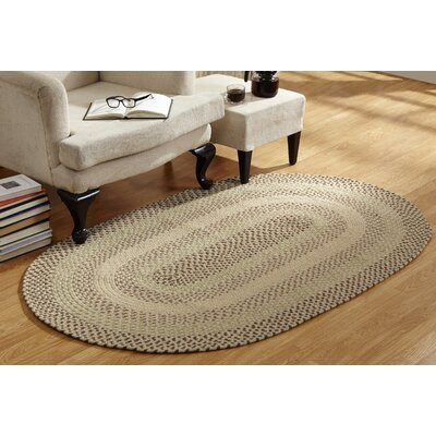 Monnie Braided Natural Area Rug Rug Size: Round 6