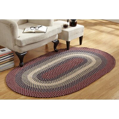 Monnie Braided Cranberry Area Rug Rug Size: 74 x 94