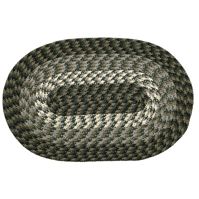 Hunter Green Area Rug Rug Size: Round 6