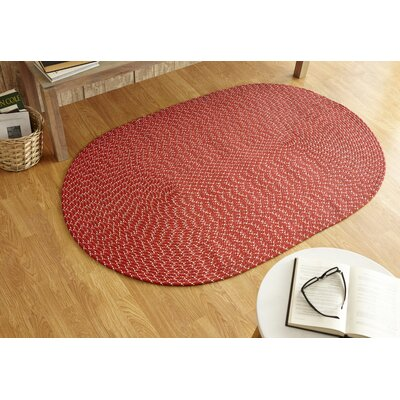 Sunsplash Red Area Rug Rug Size: Round 8 x 8