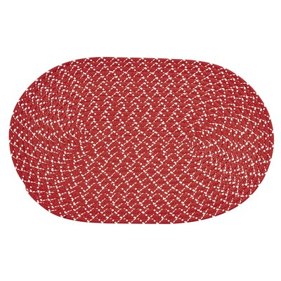 Palm Spring Rust Area Rug Rug Size: Round 6