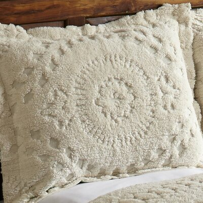 Faunia Cotton Sham Color: Ivory