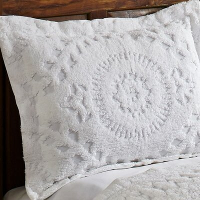 Faunia Cotton Sham Color: White
