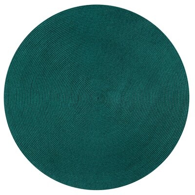 Braided Stripe Green/Beige Area Rug Rug Size: Round 6