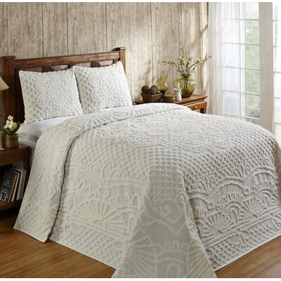 Trevor Cotton Reversible Bedspread Set Size: Twin, Color: Ivory