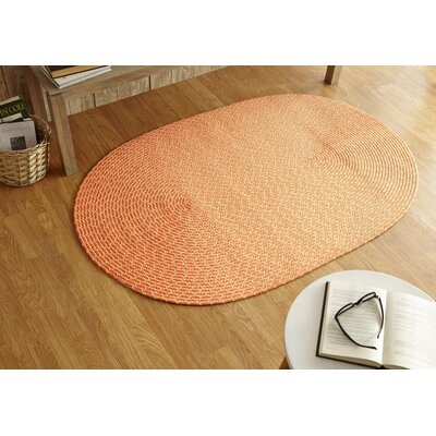 Sunsplash Orange Area Rug Rug Size: Round 8 x 8