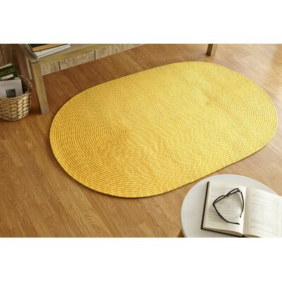 Sunsplash Yellow Area Rug Rug Size: 36 x 56