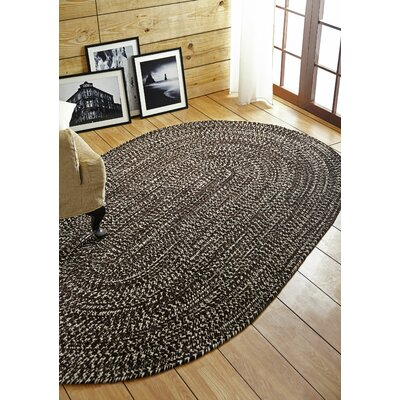 Chenille Reverible Tweed Braided Dove/Chesnut Indoor/Outdoor Area Rug Rug Size: 35 x 55