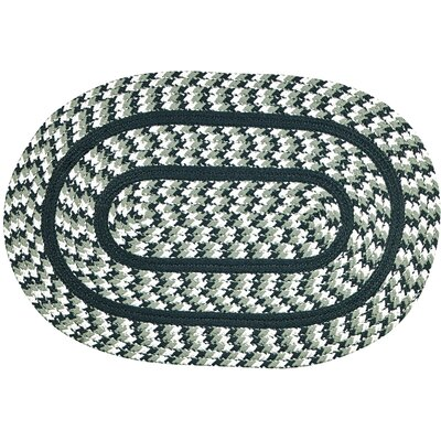 Crescent Braided Green Indoor/Outdoor Area Rug Rug Size: Round 6
