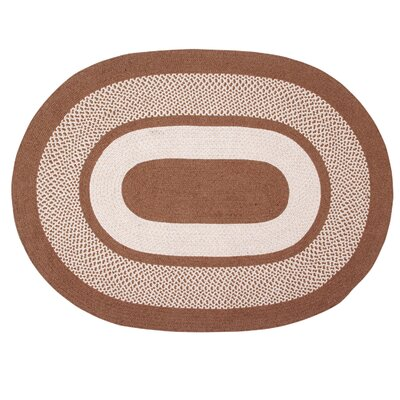 Portland Wool Braid Natural Area Rug Rug Size: Round 56