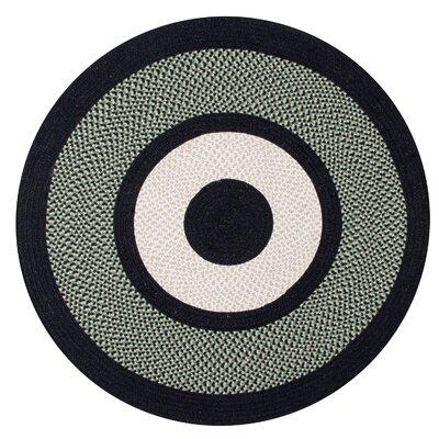 Portland Wool Braid Green Area Rug Rug Size: Round 56