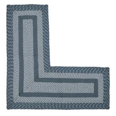 Newport L-Shaped Slate Blue Area Rug