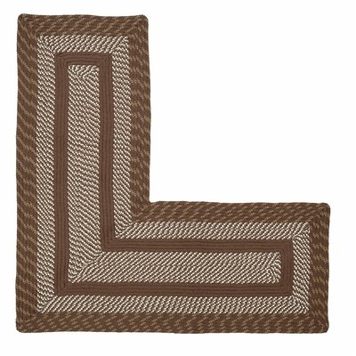 Newport L-Shaped Brown Area Rug
