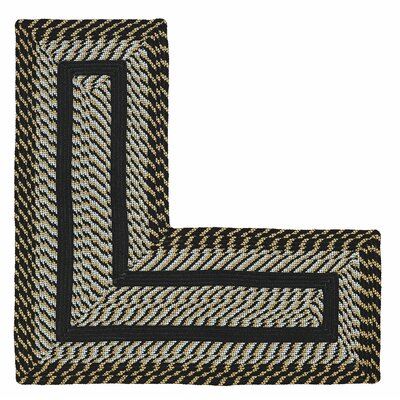 Newport L-Shaped Black Area Rug