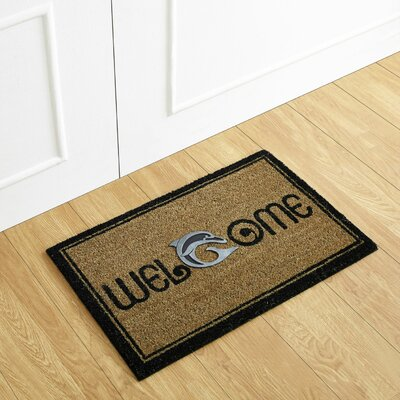 Dolphin Welcome Coir Doormat