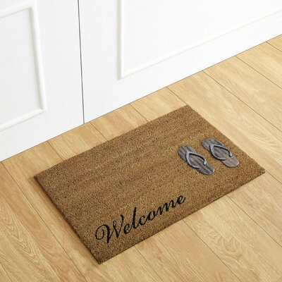 Flip Flop Welcome Coir Doormat