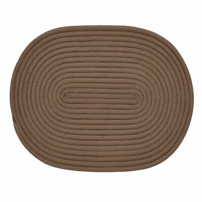 Springy Hand-Braided Chocolate Area Rug Rug Size: 18 x 26