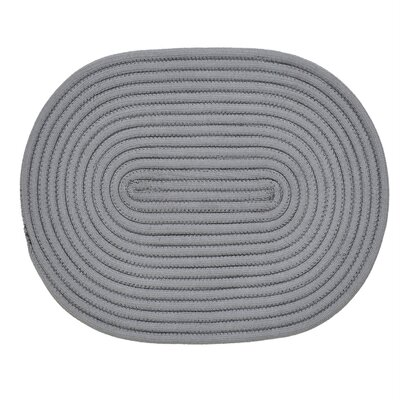 Springy Hand-Braided Gray Area Rug Rug Size: 18 x 26