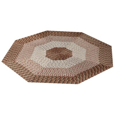 McClure Stripe Brown Area Rug Rug Size: Octagonal 8
