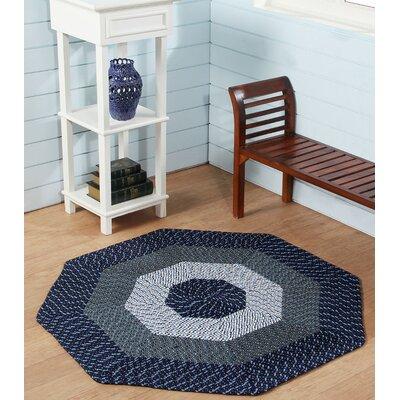 McClure Stripe Blue Area Rug Rug Size: Octagonal 6
