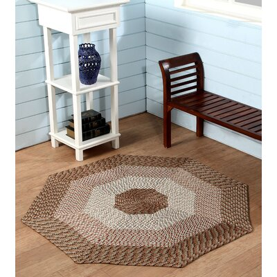 McClure Straw Stripe Area Rug Rug Size: Octagonal 6