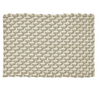 Brandonville Stranded Braid Hand-Woven Beige/Ivory Area Rug Rug Size: 2 x 3 3