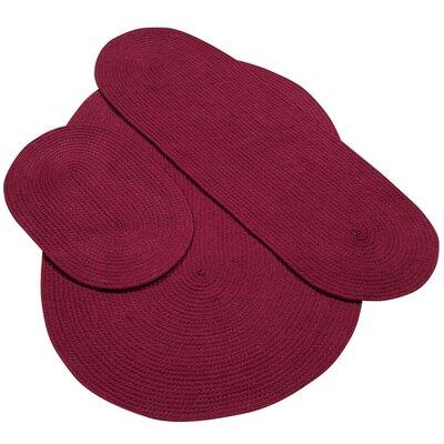 Fontenay Solid Rug Set Color: Burgundy