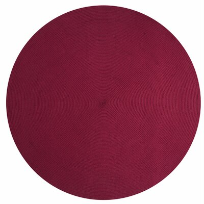 Alpine Braided Burgundy Area Rug Rug Size: 74 x 94
