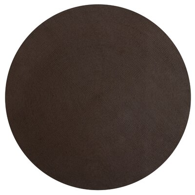 Alpine Braided Chocolate Area Rug Rug Size: 74 x 94
