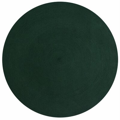 Alpine Braided Hunter Area Rug Rug Size: Round 6