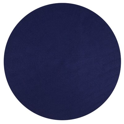 Alpine Braided Navy Area Rug Rug Size: 74 x 94
