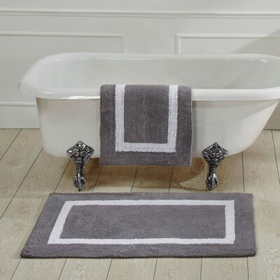 Hotel Bath Rug Size: 21 x 34, Color: Grey