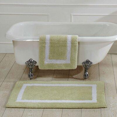 Hotel Bath Rug Size: 21 x 34, Color: Sage