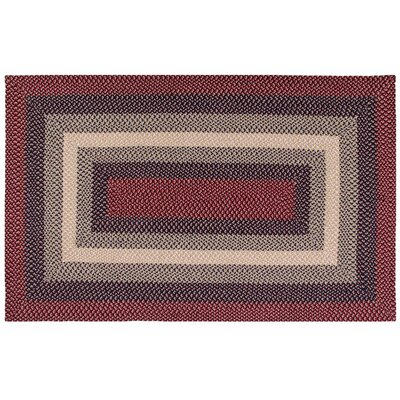 Monnie Cranberry Area Rug Rug Size: 34 x 5