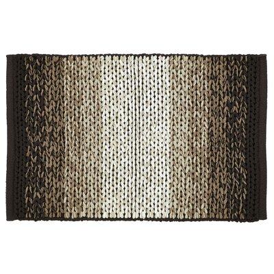 Ashli Hand-Woven Chocolate Area Rug Rug Size: 3 x 5