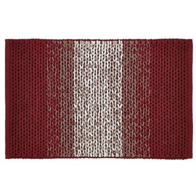 Ashli Hand-Woven Burgundy Area Rug Rug Size: 2 x 3