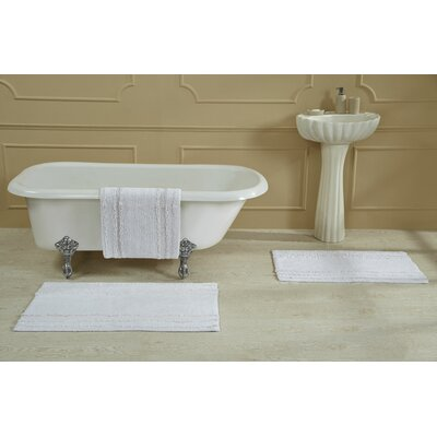 Bertrand 100% Cotton Bath Rug Size: Size: 24 X 40; Color: White