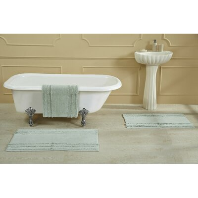Bertrand 100% Cotton Bath Rug Size: Size: 21 X 34; Color: Lt. Gray