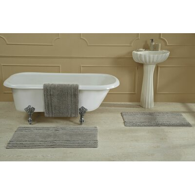 Bertrand 100% Cotton Bath Rug Size: Size: 17 X 24; Color: Lt. Gray