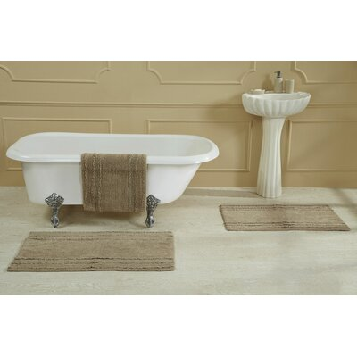 Bertrand 100% Cotton Bath Rug Size: Size: 17 X 24; Color: Beige