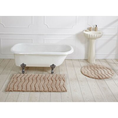 Woodbury Bath Rug Size: 27 X 45, Color: Sand