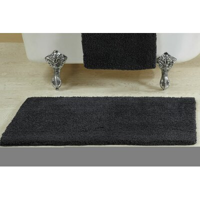 Berrywood Tufted Bath Rug Size: 17 W x 24 L, Color: Charcoal