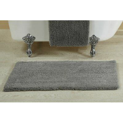 Berrywood Tufted Bath Rug Size: 17 W x 24 L, Color: Gray